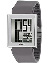 Philippe Starck Philip Starck - Reloj analógico de cuarzo para hombre con correa de piel, color rosa