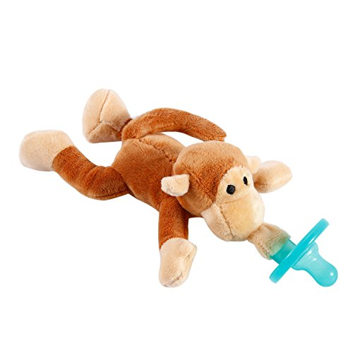 yks-infant-pacifier-plush-soft-toy-funny-monkey-soother-orthodontic-dummy-silicone-teether-with-clip