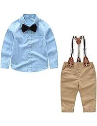 6ea5f3fb3 Baby Boy Clothes Outfits Sets Autumn Newborn Infant Clothing Gentleman Suit  Suspender Trousers+Top+