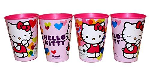 Hello Kitty Trinkbecher Saftbecher Becher 4er Set (Keramik Hello Becher Kitty)