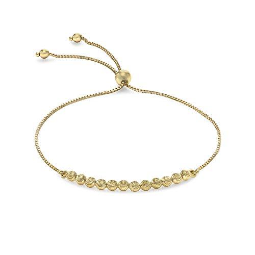 Carissima Gold Damen 9k (375) Gelbgold Ball und Kette Verstellbar Armband Max. Länge 20 cm, Gelbgold
