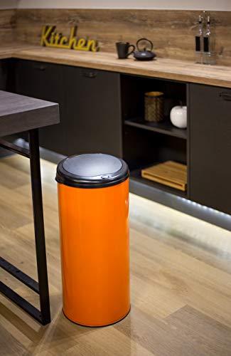 Poubelle à Ouverture par Pression, 45 L, Orange