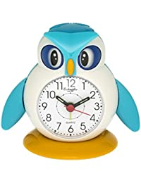 Eichmüller–Despertador infantil búho azul analogwe cker con alarma Snooze y luz