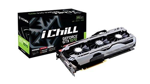 Inno3D iChill GeForce GTX 1070 X4 8GB - Graphics Cards (GeForce GTX 1070, 8 GB, GDDR5, 256 bit, 7680 x 4320 pixels, PCI Express x16 3.0)