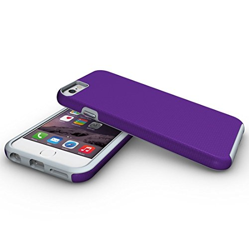 Für iPhone 6 / 6s, Ball Texture Anti-Rutsch-PC + TPU schützende rückseitige Abdeckungs-Fall DEXING ( Color : Black ) Purple