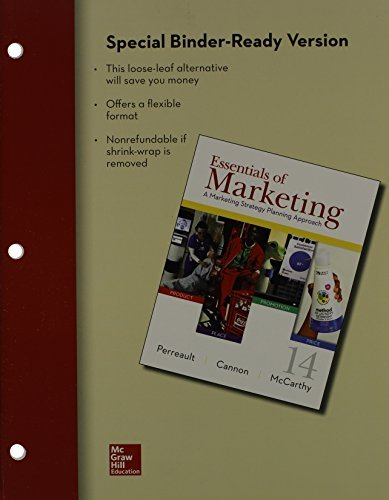 Loose Leaf of Essentials of Marketing with Connect Access Card by Jr., William Perreault (2013-11-07)