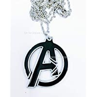 Avengers, collana in metallo nichel free 4cm, Marvel Capitan America Iron Man Hulk