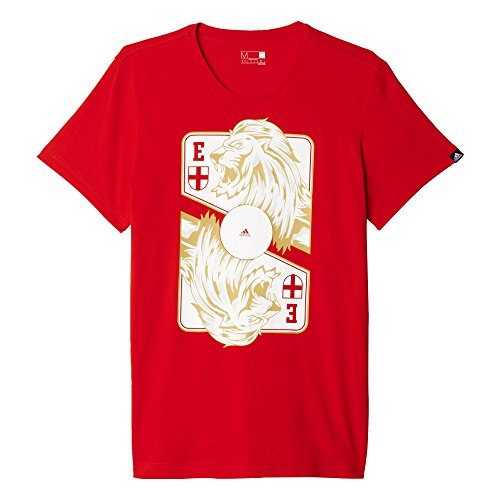 adidas Herren T-Shirt England Graphic Card, Red, M, AI5630 (Adidas Training England)