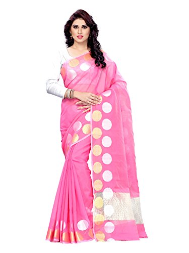 Mimosa Women's Cotton Saree (7099-Ab-Lpink_Light Pink)