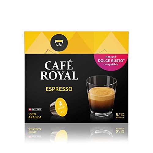 Café Royal Espresso 48 Nescafé Dolce Gusto kompatible Kapsel (Intensität 5/10) 3er Pack (3 x 16 Kaffeekapseln)