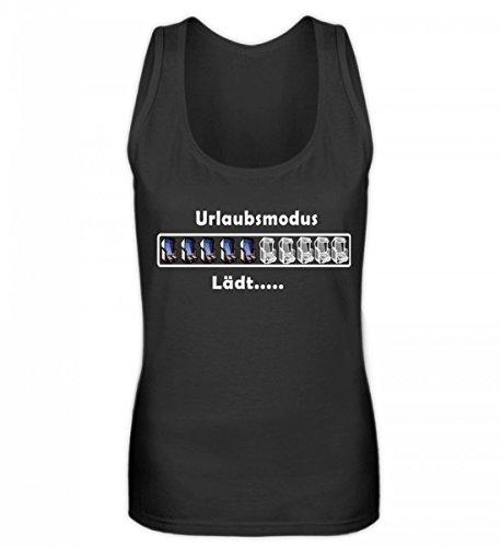 Shirtee Hochwertiges Frauen Tanktop - Urlaubsmodus Plattdeutsch | Norddeutsch | Norden | Strandkorb