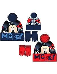 Disney Mickey Mouse Set de Gorro y Guantes - RH4480 para niño c1c49f68889