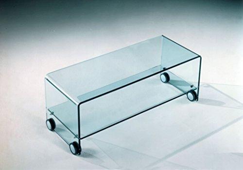 Tavolini In Vetro Porta Tv : Mod. sky porta tv in vetro curvato negozio di tavoli moderni