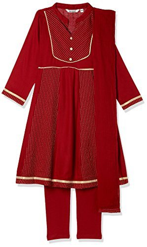 Karigari Girls' Straight Regular Fit Salwar Suit (274389341_Assorted_13Y)