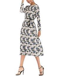 22bca2f09a42 Donne Abiti in Chiffon Abito da Cerimonia Sera Lungo Vestito Casual  Floreale Fiori Fantasia Dress
