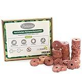 Natürlicher Zedernholz Mottenschutz für Kleiderschränk, Pomorini 40 Mottenringe, 100% natürliches Produkt, Chemikalien frei, Mottenabwehr für Kleiderschränk und Küchenschränk, Lebensmittelecht