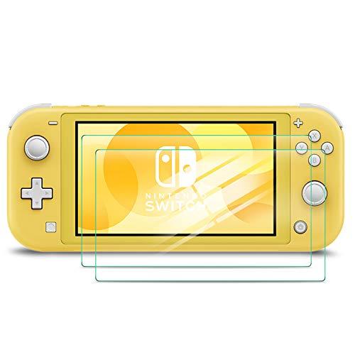 Luibor Displayschutzfolie für Nintendo Switch Lite,Gehärtetem Glas Schutzfolie für Switch Lite Panzerglas,Schützt das Display vor Kratzern,Leicht Anzubringen (2 Stück) Da-lite-switch