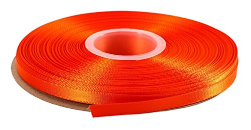duoqu 1/10,2 cm breit Double Face Satinband 50 Yards 1/4 inch wide and 50 yards length Torrid Orange -