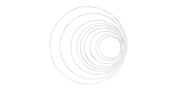 Wei/ß Metall Glorex Metallring 22 cm