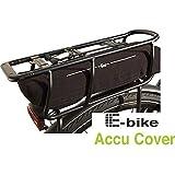 fasi Akkuschutz E-Bike Accu Cover Gepäckträger schwarz mit Reflexdruck schwarz mit Reflexdruck