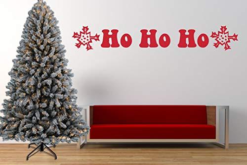 Ho Ho Ho Santa Weihnachtszitat, Vinyl Wandkunst Aufkleber, Wandbild, Aufkleber. Haus, Wanddekor, Fenster, Spiegeldekoration - Santa-fenster