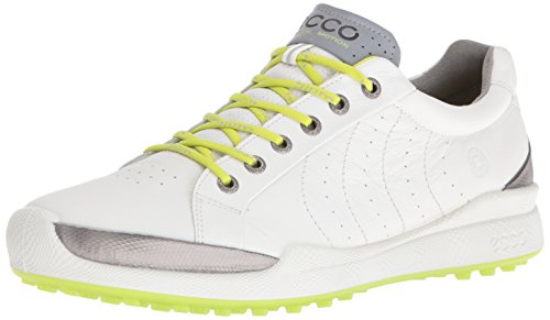Ecco Men's Golf BIOM Hybrid, Chaussures Homme, Blanc (55365WHITE/LIME Punch), 43 EU