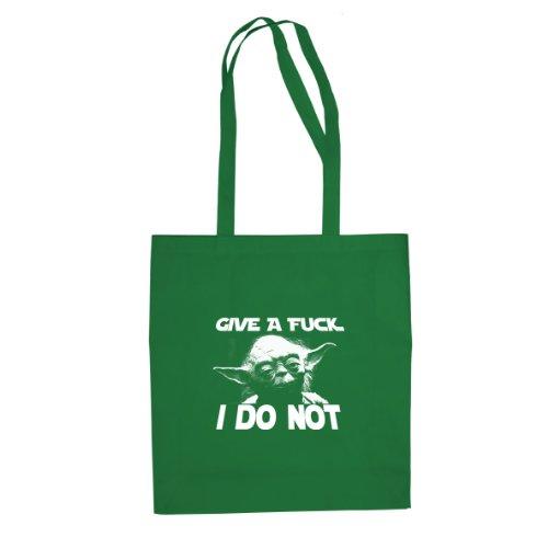 Give a Fuck - Stofftasche / Beutel Grün