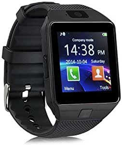 Xiaomi Mi 2S Compatible Certified Bluetooth Smart Watch DZ M9 Wrist Watch Phone with Camera & SIM Card Support Hot Fashion New Arrival Best Selling Premium Quality Lowest Price with Apps like Facebook, Whatsapp, QQ, WeChat, Twitter, Time Schedule, Read Message or News, Sports, Health, Pedometer, Sedentary Remind & Sleep Monitoring, Better Display, Loud Speaker, Microphone, Touch Screen, Multi-Language, Compatible with Android iOS Mobile Tablet PC iPhone by Sontiga
