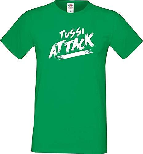 Shirtinstyle Männer T-Shirt Tussi Attack,Kelly, XL