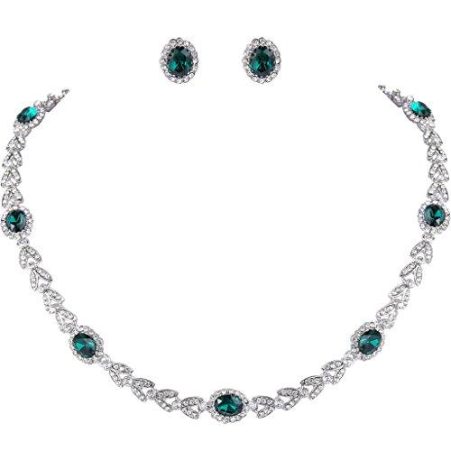 ever-faith-feuille-dargent-forme-ovale-de-cristal-autrichien-parure-n-06185-3-couleur-emeraude