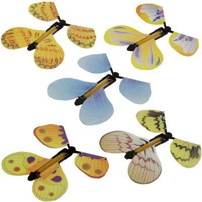 treasure-house 10 Pcs Magisches fliegendes Feen - Schmetterlings - Spielzeug mit Gummiband angetriebenes Kindergeschenk