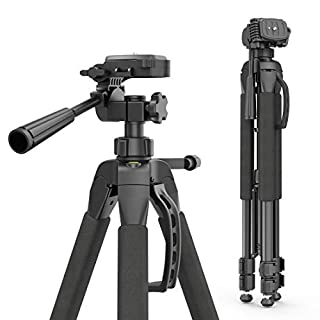 Hama Fotostativ Action 165 3D (Höhe 61–165 cm, 3-Wege Kugelkopf, Gummifüße und Spikes, Belastbarkeit bis 4 kg, Gewicht 1320 g leicht, Kamera Stativ inkl. Tragetasche) schwarz