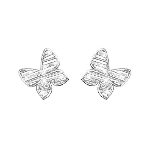 Stroili - Orecchini farfalla in ottone rodiato e glitter per Donna - Moonlight