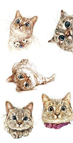 1 Stück Kinder Tattoo Aufkleber (entfernbar), Tattoo Sticker (Katze Kätzchen) (Temporäre Kätzchen Tattoo)