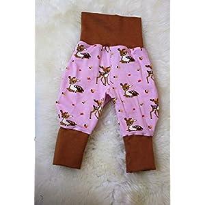 Baby Pumphose Schlupfhose Haremshose Gr.56-68 Reh Rehkitz