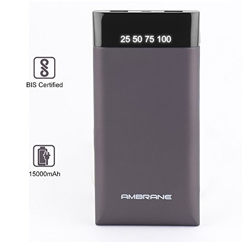 Ambrane Plush PP-15 15000mAH Power Bank (Grey)