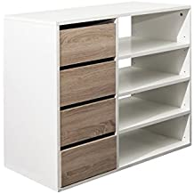 Bloc tiroir rangement blanc - Bloc tiroir bois ...