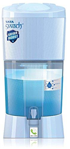 Tata Swach Non Electric Silver Boost 27-Litre Gravity Based Water Purifier (Aqua Blue)
