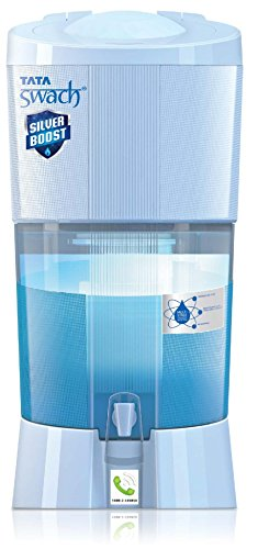 Tata Swach Non Electric Silver Boost 27-Litre Gravity Based Water Purifier (Aqua Blue)