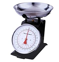 Black 3kg Stainless Steel Analogue Retro Traditional Kitchen Weighing Scales by Prima