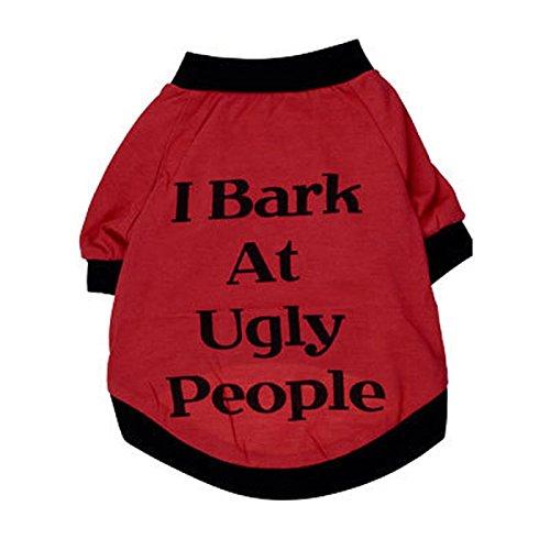 Pan Halloween Hund Peter Kostüme (winwintom I Bark at Ugly People Dog catssweatshirt für Haustiere)