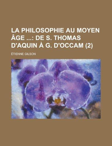 La Philosophie Au Moyen Age (2)