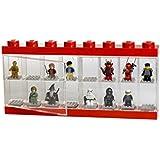 LEGO - Caja de almacenaje para minifiguras con diseño de ladrillo 16, color rojo (Room Copenhagen #40660001)