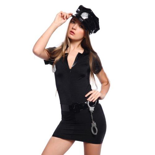 m Polizistin Damen Kostuem Polizei Cop Polizist Sexy Uniform Fasching Karneval Verkleidung (Cop Kostüm Weiblich)