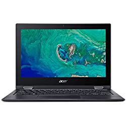 "Acer Spin 1 | SP111-33 - Ordenador portátil de 11.6"" HD (Intel Celeron N4000, 4 GB RAM, 64 GB eMMC, UMA, Windows 10 Home con S Mode & Office 365 Personal) Negro - Teclado QWERTY Español"