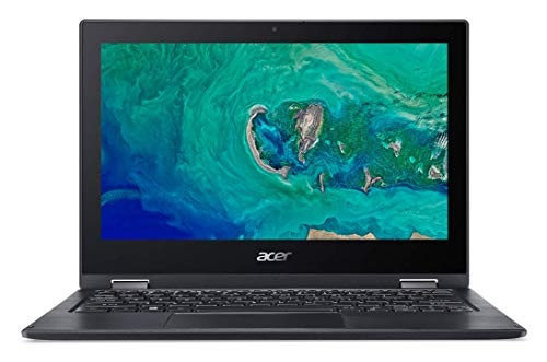 Acer Spin 1 | SP111-33 - Ordenador portátil de 11.6' HD (Intel Celeron N4000, 4 GB RAM, 64 GB eMMC, UMA, Windows 10 Home con S Mode & Office 365 Personal) Negro - Teclado QWERTY Español