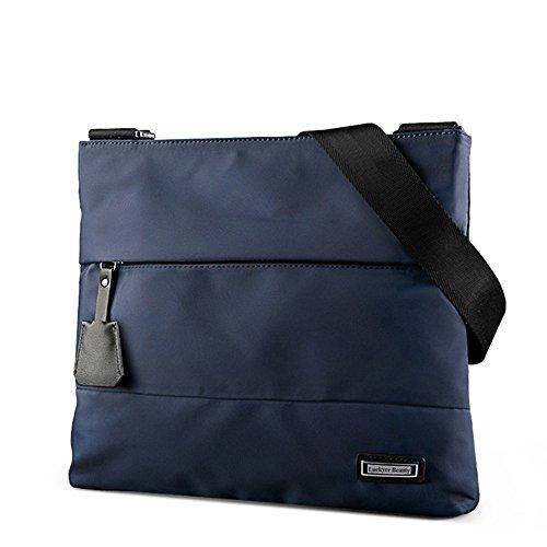 Luckyer Beauty Borse a tracolla in tela degli uomini Borsa a tracolla Messenger Bag Messenger Bag Borsa a tracolla Blu