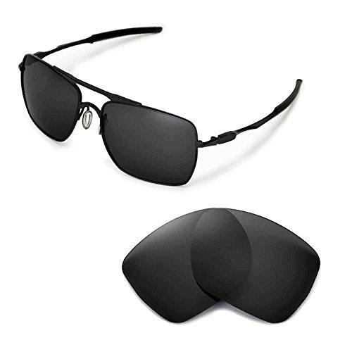 Walleva Ersatzgläser für Oakley Deviation Sonnenbrille - Mehrfache Optionen (Schwarz)
