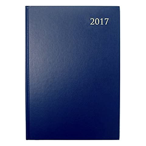 Collins Essential 2017 A5 Day A Page Diary / Day To View Diary - Navy Blue