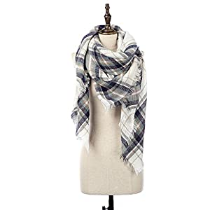 Natural Feelings Stilvolle Winter Warm Großer Tartan Decke Plaid Schal Wrap Schal